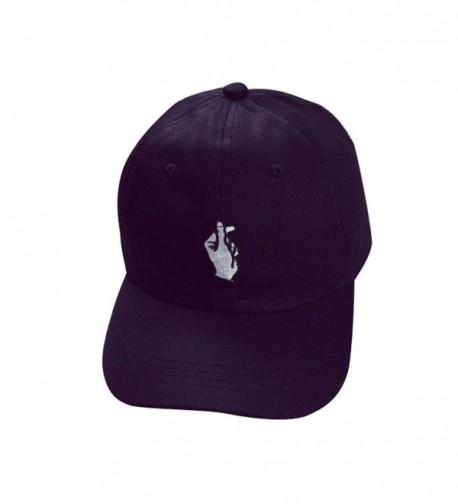Caps- Toraway Unisex Fashion Baseball Cap Adjustable Hip Hop Finger Hat - Black - CK12GGY4YT3