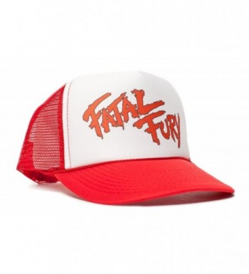 Fatal Fury Unisex-Adult Trucker Hat -One-Size Curved Bill Red/White - C111T58VNEH