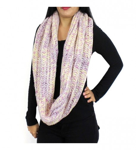 Chunky Knitted Infinity Blended Pastel