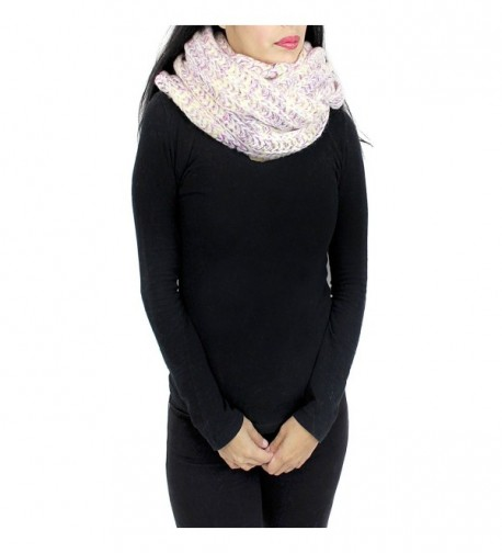 Chunky Knitted Infinity Blended Pastel in Fashion Scarves
