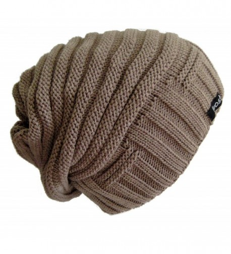 Frost Hats Slouchy Beanie for Women | Plush Knitted Winter Hat Stocking Cap 2013-60 - Light Brown - CZ11QKDS1TZ
