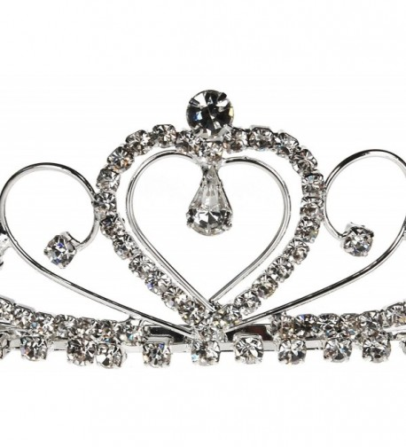 Bridal Wedding Silver Tiara Crystal