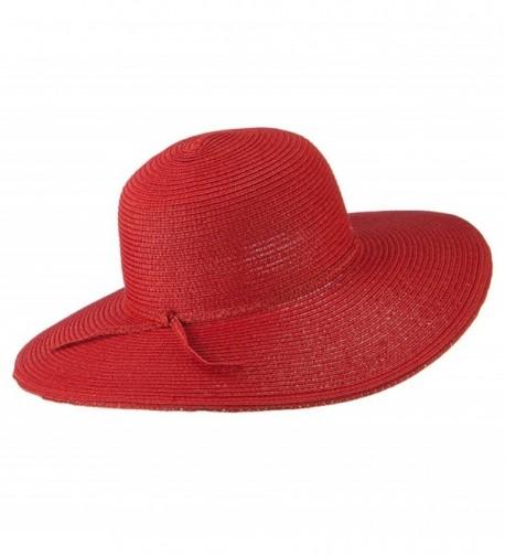 Paper Braid Flat Brim Self in Women's Sun Hats