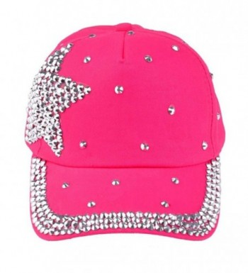 GOTD Kids Hat Baseball Caps caps Snapback Girls Boys Toddlers Summer Sun Hats - Hot Pink - CT12BU3L9Y3