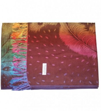 Ted Jack Feathers Pashmina Multicolor in Fashion Scarves