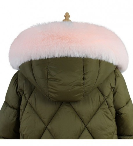 Roniky Womens Mens Trim Hood Faux Fake Fur Hood for Jacket Ski Scarf Neck Warmer Collar Wrap Shawl - Pink - CV1884UDI2D