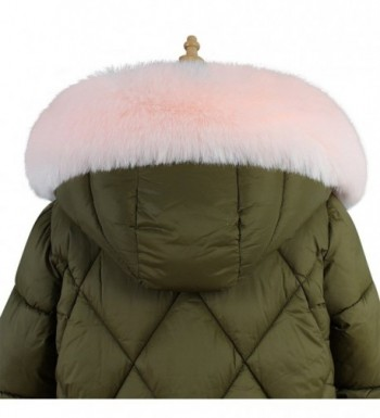 Roniky Womens Mens Trim Hood Faux Fake Fur Hood for Jacket Ski Scarf Neck Warmer Collar Wrap Shawl - Pink - CV1884UDI2D