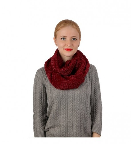 Infinity Winter Stretchy Scarves Warmer Hanmorstar - Burgundy - C31899TZ7X3