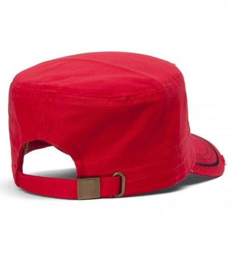 TopHeadwear Soccer Distressed Adjustable Cadet in Women's Newsboy Caps