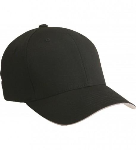 Yupoong Flexfit Cool & Dry Sandwich Baseball Cap 6077 - Black/Silver - CJ113BUU3WX