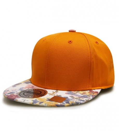 City Hunter Cf2080 Water Flower Painting Snapback Caps - 3 Colors - Orange - CP11VAPAVUN