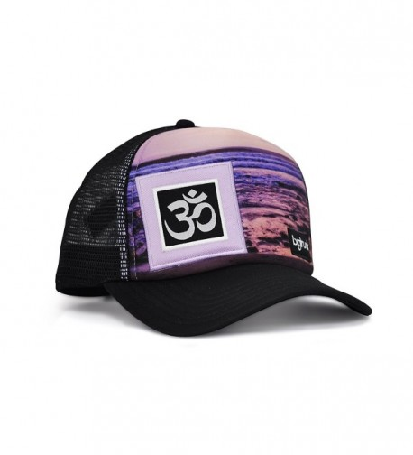 bigtruck Original Yoga Mesh Snapback Trucker Hat- Sublimated Lines - CB12E6U5TUH