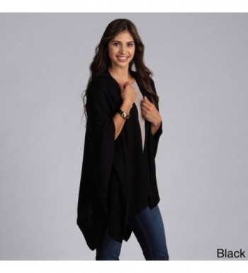 Taleen Knitted Poncho Pockets Colors