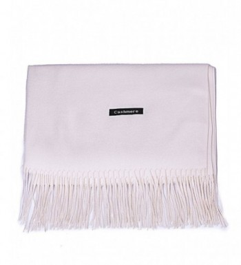 DRESSOLE Cashmere Pashmina Scarves Off white in Cold Weather Scarves & Wraps
