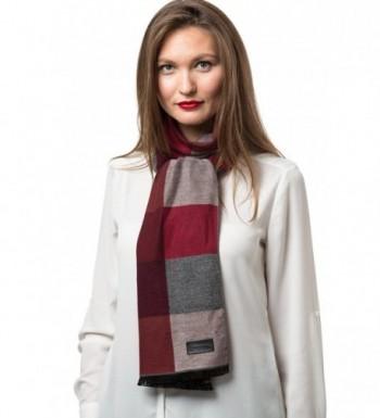Mio Marino Winter Cashmere Feel Women Scarf- 100% Cotton Fashion Scarves- In Elegant Gift Box - Plaids - CX186DXQARS