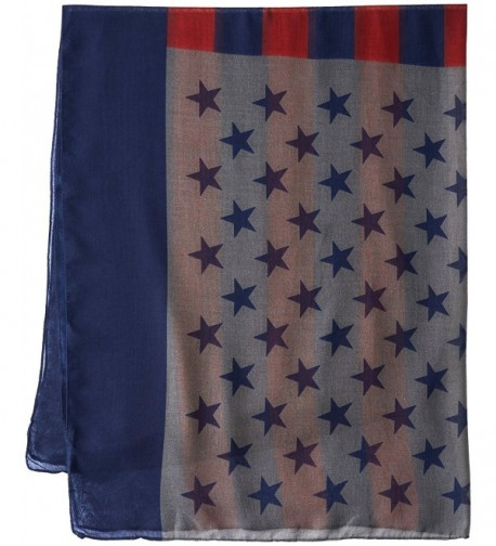 Womens American Flag Oblong Scarf