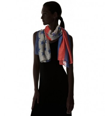 Womens American Flag Oblong Scarf in Fashion Scarves