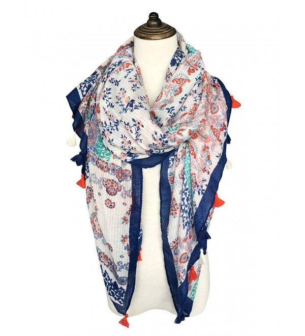 dfa2fae03 DOCILA Pretty Flowers Shawl- Ladies Wrap Scarf For Travelling or Office Use  - White -