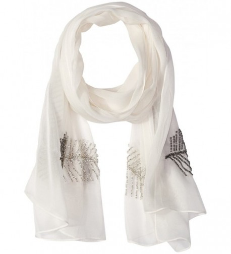 Collection XIIX Women's Solid Feather Wrap Scarf - Ivory - CN1844MOEGK