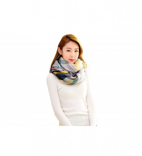 Ms.Gaga Womens' Soft Thickness Classic Plaid Lattice Scarf Shawl 11 Colors - Yellow Green Mix - CC12O00OSRP