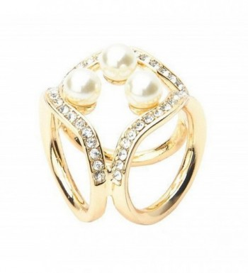 Women Fashion Scarf Ring Buckle Scarf Clip Triple Slide Jewelry Shiny Clothing - Golden - CY12NVBL15K