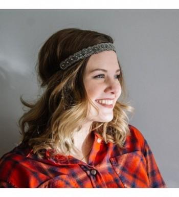 BANDED Beaded Headband Titanium Allure in Women's Headbands in Women's Hats & Caps