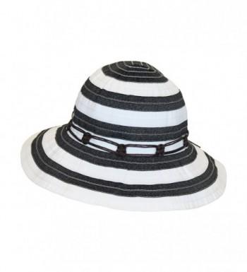 Black White Wide Brim Summer in Women's Sun Hats