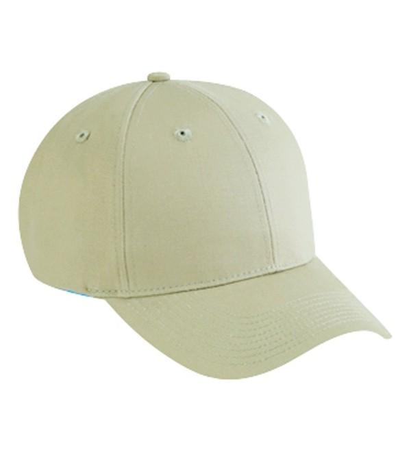 Otto Caps Cotton Twill Low Profile Pro Style Caps - Khaki - CW11U5K3H4N