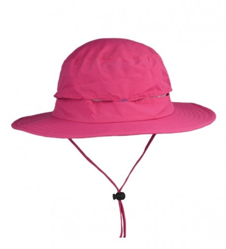 Flammi Outdoor UPF 50+ boonie Hat Fishing Hat UV Protective Summer Sun Hat - Pink Red - C117YDSTTW7