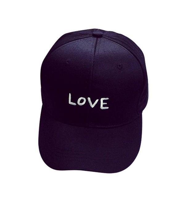 Hat-UPLOTER Embroidery Cotton Baseball Cap Boys Girls Snapback - Black - CT12M4PPYKV