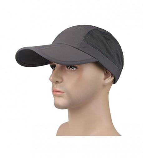 Surblue Unisex Quick-Drying Mesh Sport Outdoor Cap Breathable Sun Hat Runner Cap-UV Protection 50+ - Deep Gray - CS17WWZ0IK0