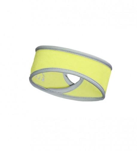 Slope Women's Girl Ponytail Headband Polyester Fleece Full Ear Warmer Coverage - Lime / Tone - C311AEAFN7V