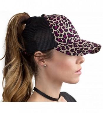 BOEKWEG The Original Fashionable Ponytail Hat. (Purple Leopard/Cream) - C912NRV2X5D