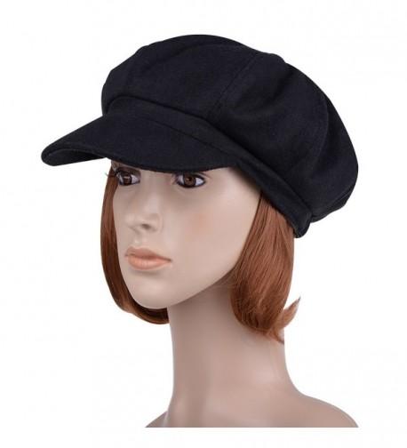 VBIGER Womens Woolen Fedora Newboys in Women's Newsboy Caps
