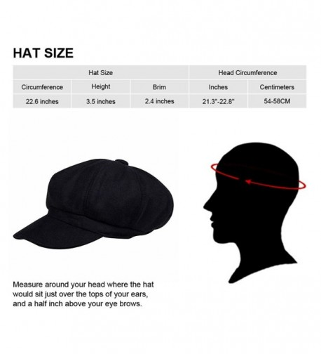 32c66e9e864f newsboy Hat Beret Hat Fedora Wool Blend Cap Collection Hats Cabbie Visor  Cap For Men Women Black CD125LOGLMR