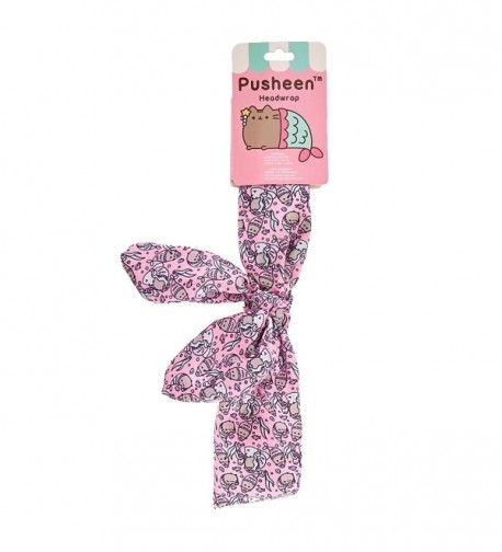Claire's Girl's Pusheen Mermaid Front-Bow Headwrap in Pink - CW186TCCZMU