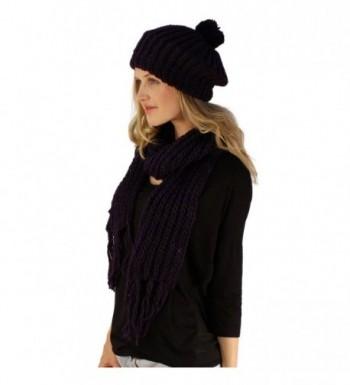 Handknit Winter Ribbed Beanie Hat
