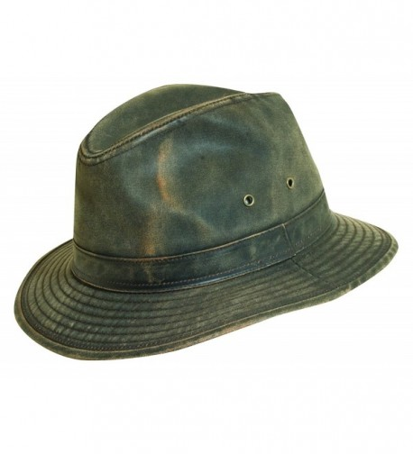 Dorfman-pacific DPC Outdoor Weathered Cotton Brown Outback Hats - CG11D9S5B1F