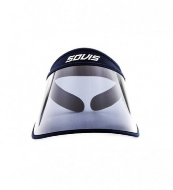 SOVIS Navy Blue Full Size - Uv Facial Protection Sun Cap Solar Visor Hat Worldwide Patented - C6116NX1HQL
