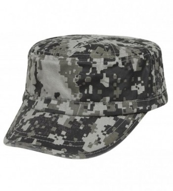 ARMY.W Camouflage Camp Washed Army BDU Cadet Cap - Army.w 014 Gray - CT11MW6C8ON