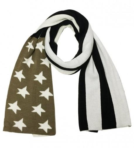 Wrapables Vintage Old Glory American Flag Scarf - Black/brown - CR11RX4EG67