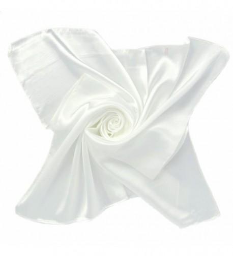 Soft Satin Neck Head Square Scarf Hair Wrap Fashion Enduring Classic - White(1pcs) - CO12FO44VBR