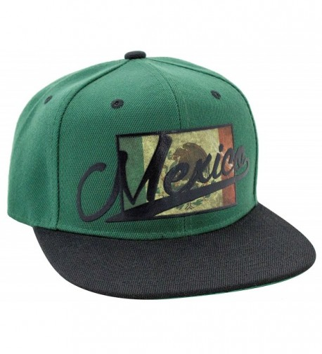 Mexico with Bird Sublimation 3D Logo Snapback Baseball Hat - C51283JTVPB