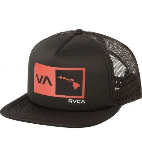 RVCA Islands Balance Box Foam Trucker Hat - Pirate Black - C31887SUWDN