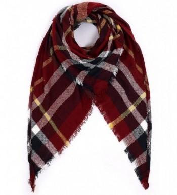 Blanket Triangle Scarves Tartan Gorgeous