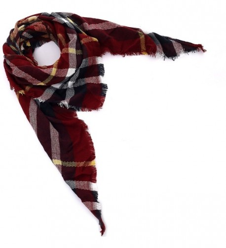 Blanket Triangle Scarves Tartan Gorgeous in Cold Weather Scarves & Wraps