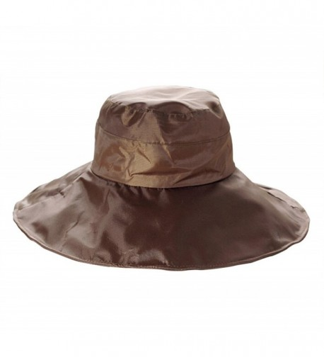 GAMT Unisex Solid Color Rain Hat Foldable Waterproof - Coffee - C812LKTC2ST