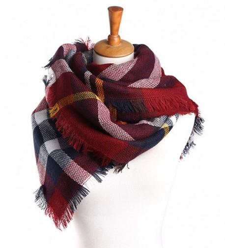 Amberzina Amberzina Women's Fall&Winter Warm Plaid Tartan Scarf Shawl - Red-plaid - C9186S4XLAL