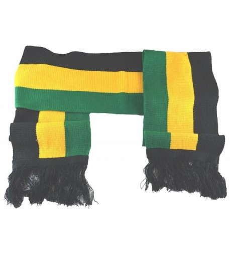 "MM Jamaican Scarf Black Yellow Green 8""80"" - CQ128KFODG5"
