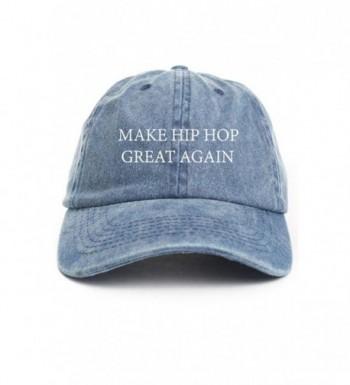 Make Hip Hop Great Again Custom Unstructured Dad Hat-Denim - CP12NS0INZF